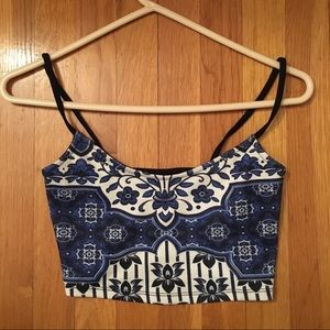 TOPSHOP Blue Crop Top